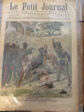 Original print French newspaper Le Petit Journal dated 1908 Revolution in Haiti