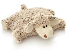 Kuschelkissen Schmusekissen für Kinder Kuscheltier Schaf Kinderkopfkissen 2-in1