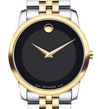 Movado 0606899 Museum Black Dial Two-Tone Men's Watch **Free Shipping**