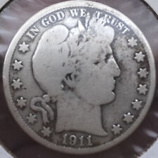 1911-P Barber Half Dollar - Nice 110 Year Old 20th Century American Silver Coin!
