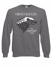 "House Honey Badger ""We Do Not Care"" Westeros Parody Jumper Sweater Pullover AG48"