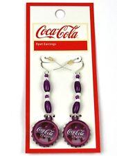 Coca Cola Cherry Coke Ohrringe Earrings Kronkorken Form Bottlle Cap Style