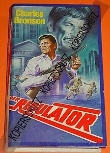 DER REGULATOR / MALIBU - VHS - VIDEO / CHARLES BRONSON  / KLAUS DILL COVER