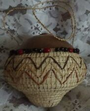 Hand Made INDIAN  beaded Basket with lid