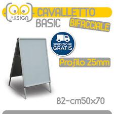 CAVALLETTO PUBBLICITARIO 50x70 espositori cornice bifacciale manifesto poster