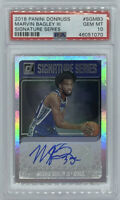 ROOKIE! 2018-19 Marvin Bagley Panini Donruss Auto/RC! PSA 10! POP 3!