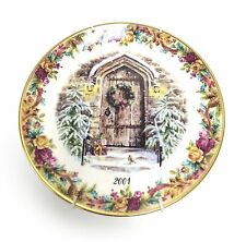 Royal Albert 1st Annual 2001 Festive Welcome Christmas Collector Plate - Nib