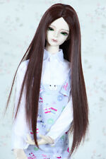 "1/3 8-9"" PULLIP SD BJD Doll Dollfie Wig Red Brown Long Straight Hair 20-23cm"