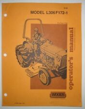 Woods L306f172 1 Rotary Mower Operators Parts Manual Fits Ford 1720 Tractor