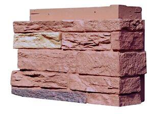 NextStone Polyurethane Faux Stone Corner - Slatestone Arizona Red