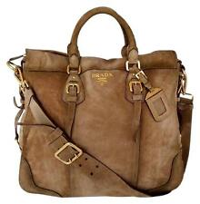 PRADA Scamosciato Suede CERVO ANTIK Shoulder Bag Light Brown BR2350*** $2,680