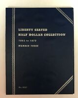 LIBERTY SEATED HALF #3 (1863-1873) #9037 COIN FOLDER BY WHITMAN -NEW OLD STOCK