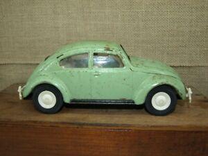 Vintage 1966-67 Tonka VW Volkswagen Beetle Seafoam green