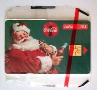 1 Phone cards LaPuce,  Père Noel/Santas Coca-Cola  $10