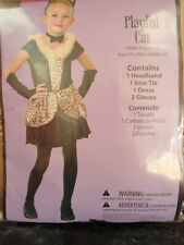Girls Size Small 4-6 Playful Cat Halloween Costume New leopard print