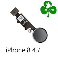 """For iPhone 8 4.7"""" Home Button Fingerprint Touch ID Flex Replacement New Black"""