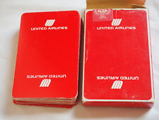 Vintage UNITED AIRLINES PLAYING CARDS white on Red