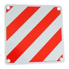 Warntafel Italien Aluminium Rot-Weiß für Fahrradheckträger mit Ösen 500x500mm