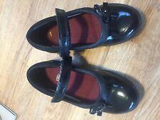 Clarks Girls Black Patent Leather School Shoes DAISY GLEAM 10 1/2 F