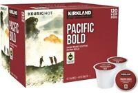 Kirkland Signature Pacific Bold Dark Roast Coffee Keurig K-Cup Pods 120 Count