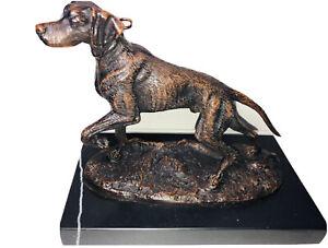 Art Nouveau Style Statue Sculpture Hunting Dog Art Deco Style Bronze