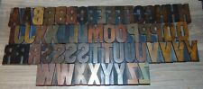 57 2 Wood Letterpress Printing Blocks Type Alphabet