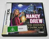 Nancy Drew The Hidden Staircase Nintendo DS 2DS 3DS Game *Complete*