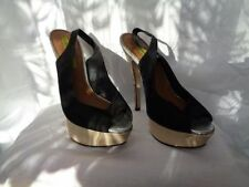 """River Island Faux Suede Very High (greater than 4.5\) Women's Heels"""""""