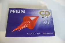 K7 AUDIO TAPE CASSETTE NEUF SEALED PHILIPS CD ONE 60 TYPE I.