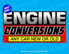 Engine Conversions Banner Auto Shop Open Sign Automotive Repair Mechanic Service