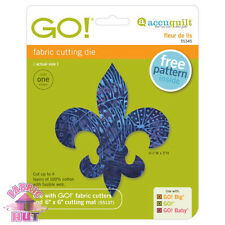55345- Accuquilt GO! Cutter, Big, & Baby Fleur De Lis Applique Block Quilt Die