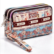 Credit Card Holder Coin Zip Purse Small Floral Wallet Women Phone Makeup Pouch