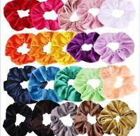 20/40Pcs Women Hair Scrunchies Velvet Elastic Hair Bands Scrunchy Hair Band
