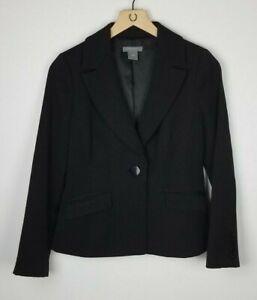 Ann Taylor Sz. 4P Black Single Button Notched Lapel Back Vented Suit Jacket