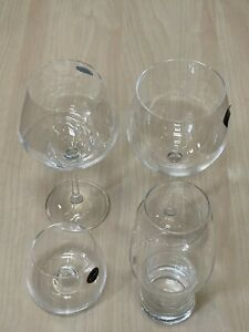 Vintage Mixed 4pc White Red Wine Beer Lager Rum Liquor Gin and Tonic Glasses Set