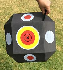 Archery Polyhedral Target 3d High Density Self Healing Foam Cube 38x38x38cm Red