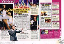 Coupure de presse Clipping 2012 (1 page 1/3) Les Enfoirés Shy'm M.Pokora