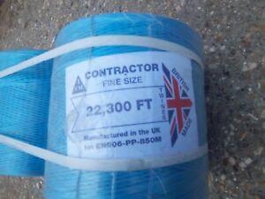 BLUE FINE POLYPROPYLENE BALER TWINE  PACK OF 2  BRITISH MADE 22300 FT