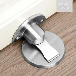 Stainless Steel Door Stopper Heavy Duty Magnetic Latching Door Suction Hardware