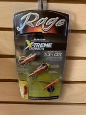"New Rage Crossbow X-treme 2 Blade 100 Gr 2.3"" Cut Broadheads Extreme R52000"