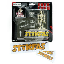 Original Vintage Stikfas Action Figure Dark Land Bones Jones AFB008A + Stickers