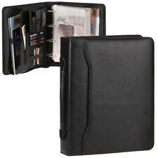 Ringbuchmappe 50mm mit Griff Konferenzmappe A4 schwarz Mappe mit großer Mechanik