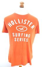 HOLLISTER Mens T Shirt Top S Small Orange Cotton