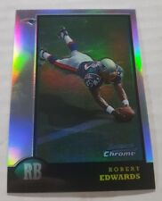1998 BOWMAN CHROME REFRACTOR ROBERT EDWARDS #BCP4 PATRIOTS
