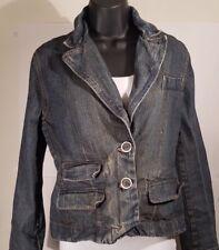 Duck Head Women's Denim Jacket Sz M Medium Distressed 100% Cotton