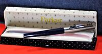 """""""Parker"""" """"15"""" Mixy  Fountain Pen Navy blue/CT M nib Made in France 1981's w/box"""