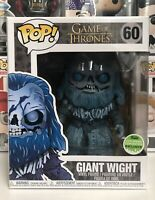 """⭐️Game of Thrones- Giant Wight #60 ECCC Spring 2018 6-Inch Funko Pop + 6"""" Prot⭐"""