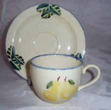 Poole Pottery Dorset Fruit Collection Pears Pattern Cup and Saucer