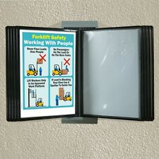 Wall mounted reference rack, flip file browser display A4 poster display