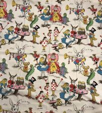 Alice in Wonderland Kids Window Curtain with Valance Used